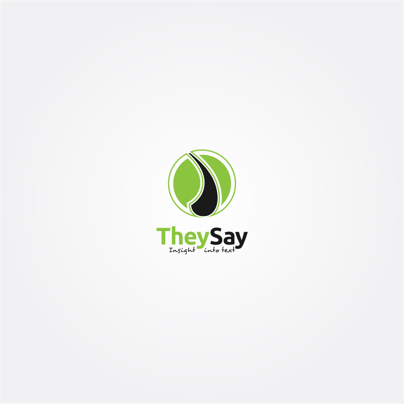 Logo Design by Alpar David - Entry No. 46 in the Logo Design Contest TheySay - Insight Into Text.