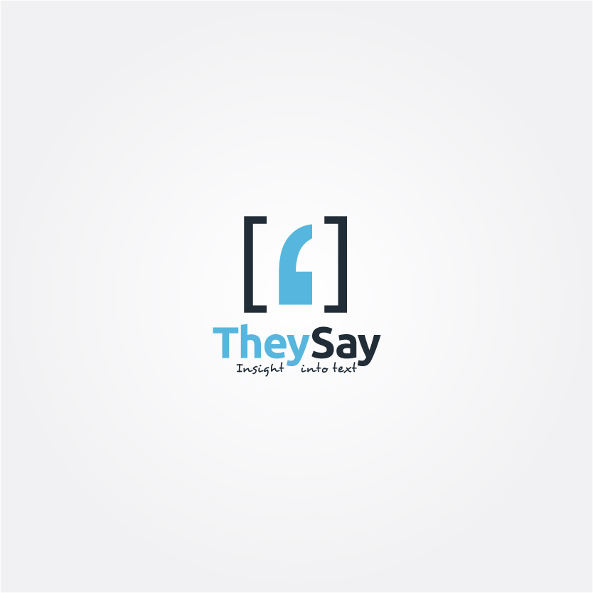 Logo Design by Alpar David - Entry No. 47 in the Logo Design Contest TheySay - Insight Into Text.