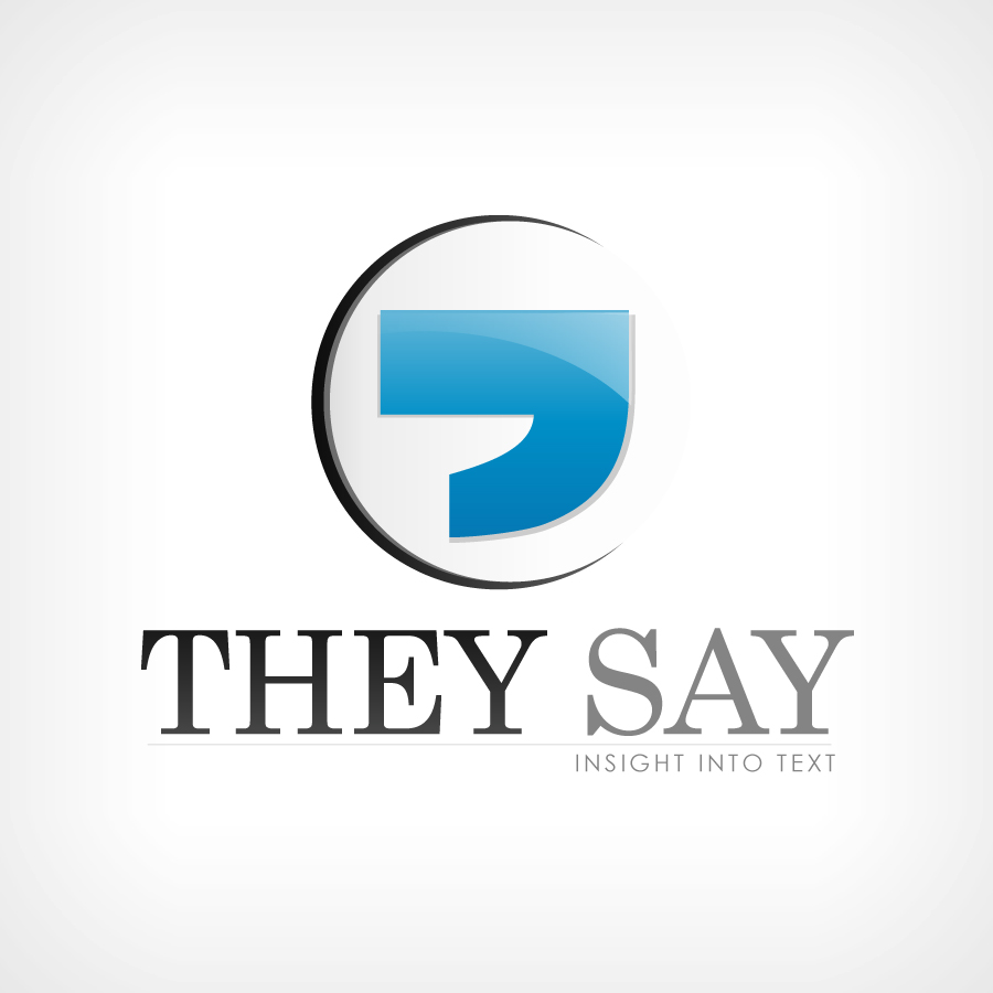 Logo Design by JoshuaCaleb - Entry No. 60 in the Logo Design Contest TheySay - Insight Into Text.