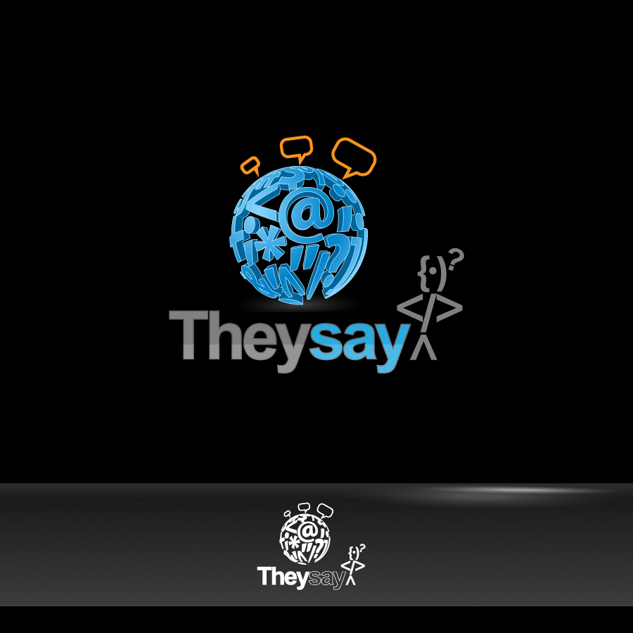 Logo Design by zesthar - Entry No. 70 in the Logo Design Contest TheySay - Insight Into Text.