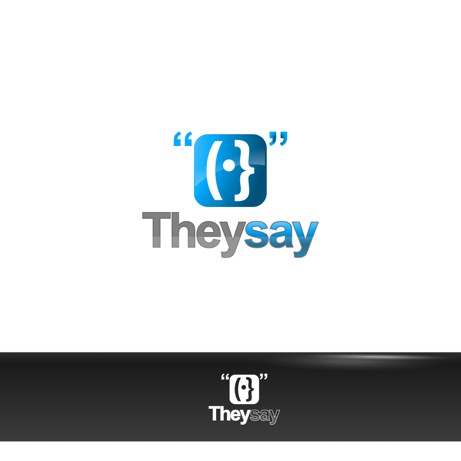 Logo Design by zesthar - Entry No. 72 in the Logo Design Contest TheySay - Insight Into Text.
