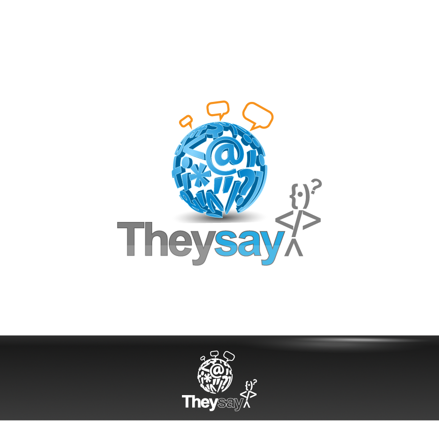 Logo Design by zesthar - Entry No. 73 in the Logo Design Contest TheySay - Insight Into Text.