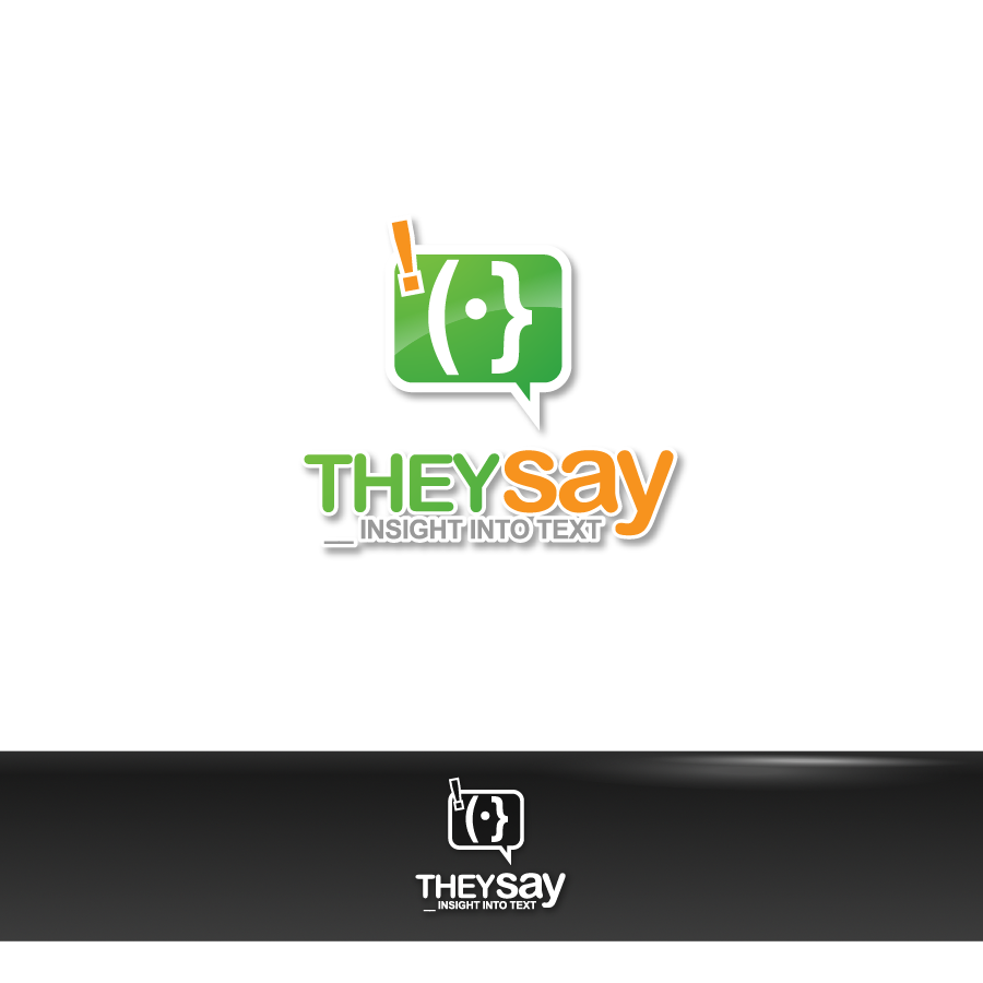 Logo Design by zesthar - Entry No. 74 in the Logo Design Contest TheySay - Insight Into Text.
