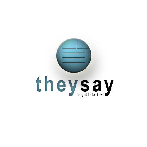 Logo Design by mikekoubou - Entry No. 78 in the Logo Design Contest TheySay - Insight Into Text.