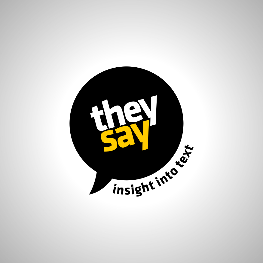 Logo Design by rizkimuliawan - Entry No. 81 in the Logo Design Contest TheySay - Insight Into Text.
