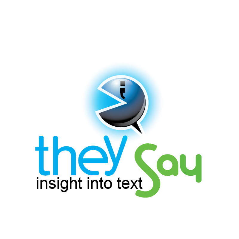 Logo Design by moisesf - Entry No. 82 in the Logo Design Contest TheySay - Insight Into Text.