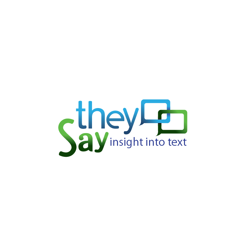 Logo Design by moisesf - Entry No. 86 in the Logo Design Contest TheySay - Insight Into Text.