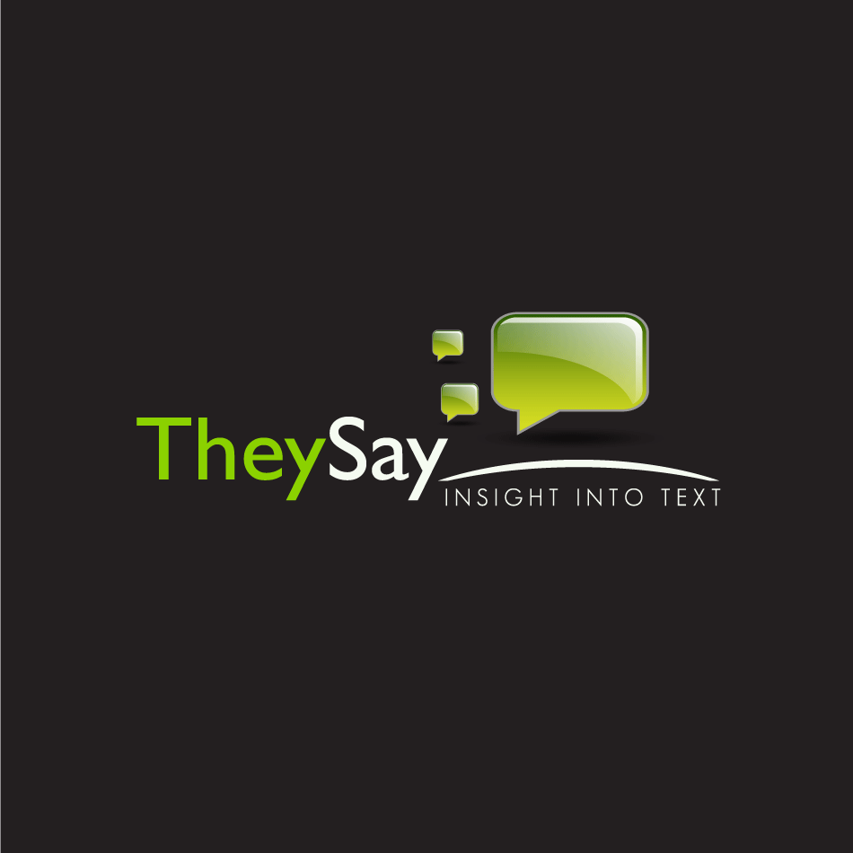 Logo Design by moonflower - Entry No. 87 in the Logo Design Contest TheySay - Insight Into Text.