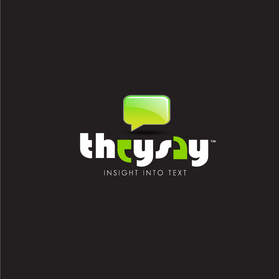 Logo Design by moonflower - Entry No. 89 in the Logo Design Contest TheySay - Insight Into Text.