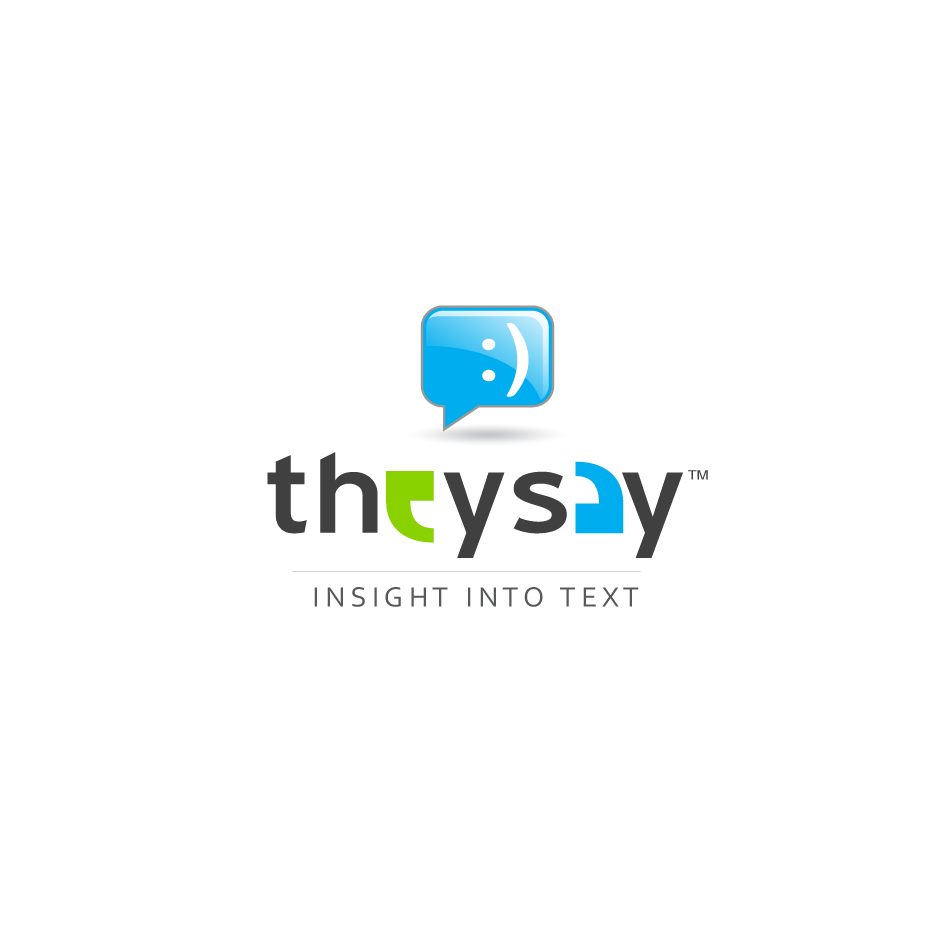 Logo Design by moonflower - Entry No. 90 in the Logo Design Contest TheySay - Insight Into Text.