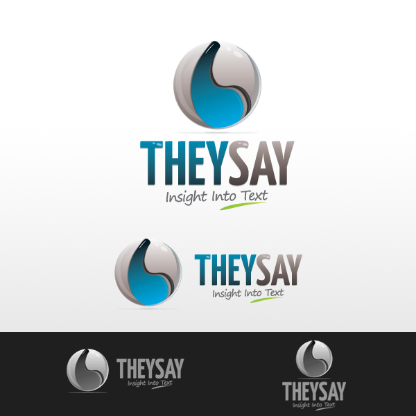 Logo Design by rockpinoy - Entry No. 92 in the Logo Design Contest TheySay - Insight Into Text.
