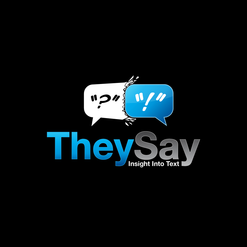 Logo Design by trav - Entry No. 100 in the Logo Design Contest TheySay - Insight Into Text.