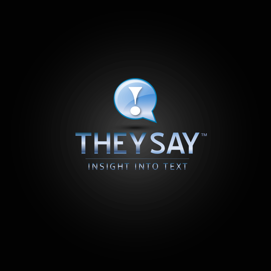 Logo Design by moonflower - Entry No. 103 in the Logo Design Contest TheySay - Insight Into Text.