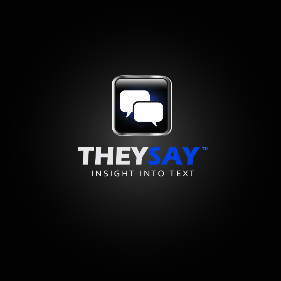 Logo Design by moonflower - Entry No. 109 in the Logo Design Contest TheySay - Insight Into Text.