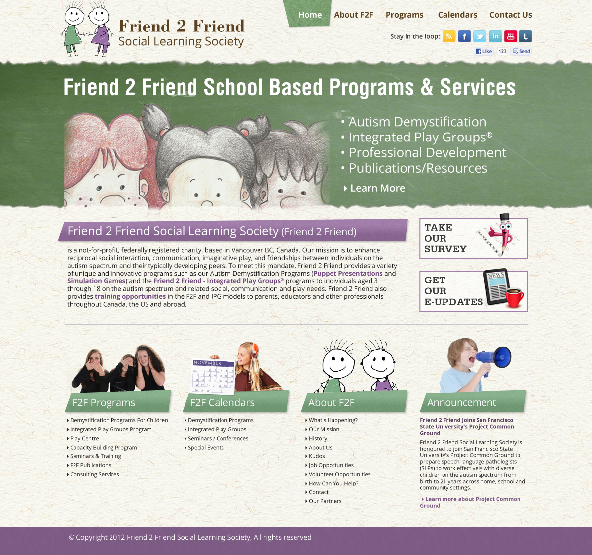 Web Page Design by Wade Dupey - Entry No. 17 in the Web Page Design Contest Web Page Design Needed for Exciting New Company Friend 2 Friend Social Learning Society.