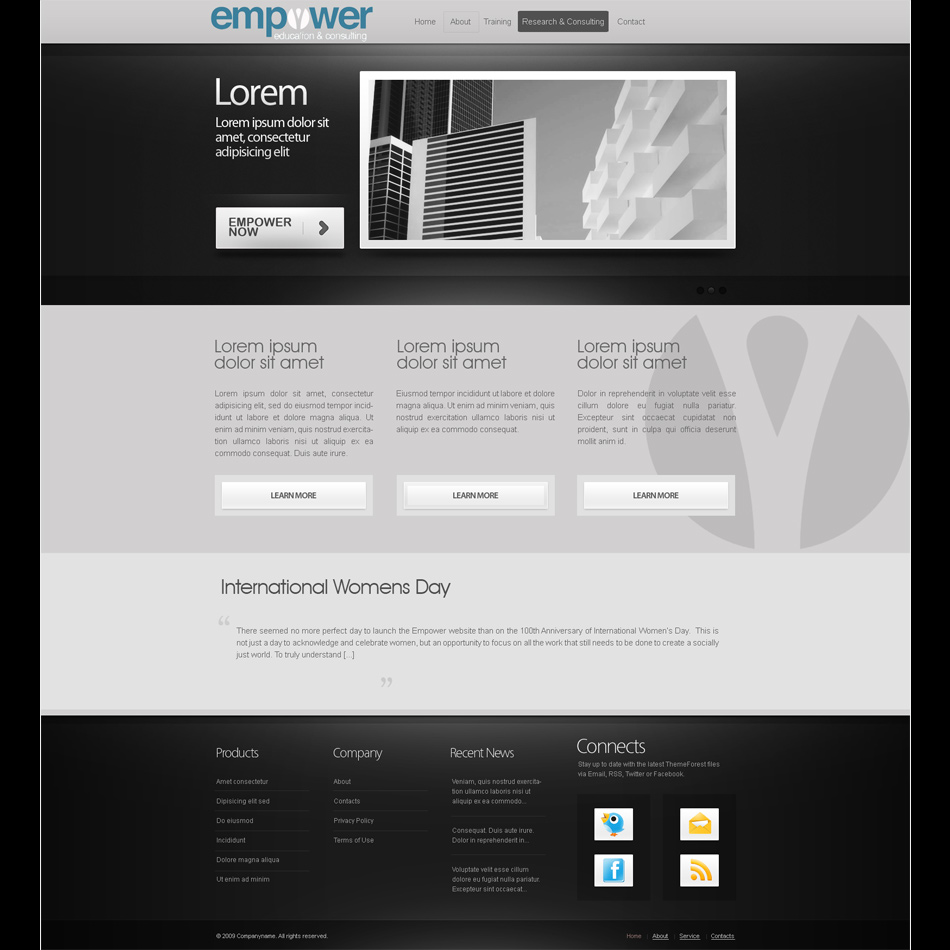 Web Page Design by keekee360 - Entry No. 1 in the Web Page Design Contest Empowered Design.