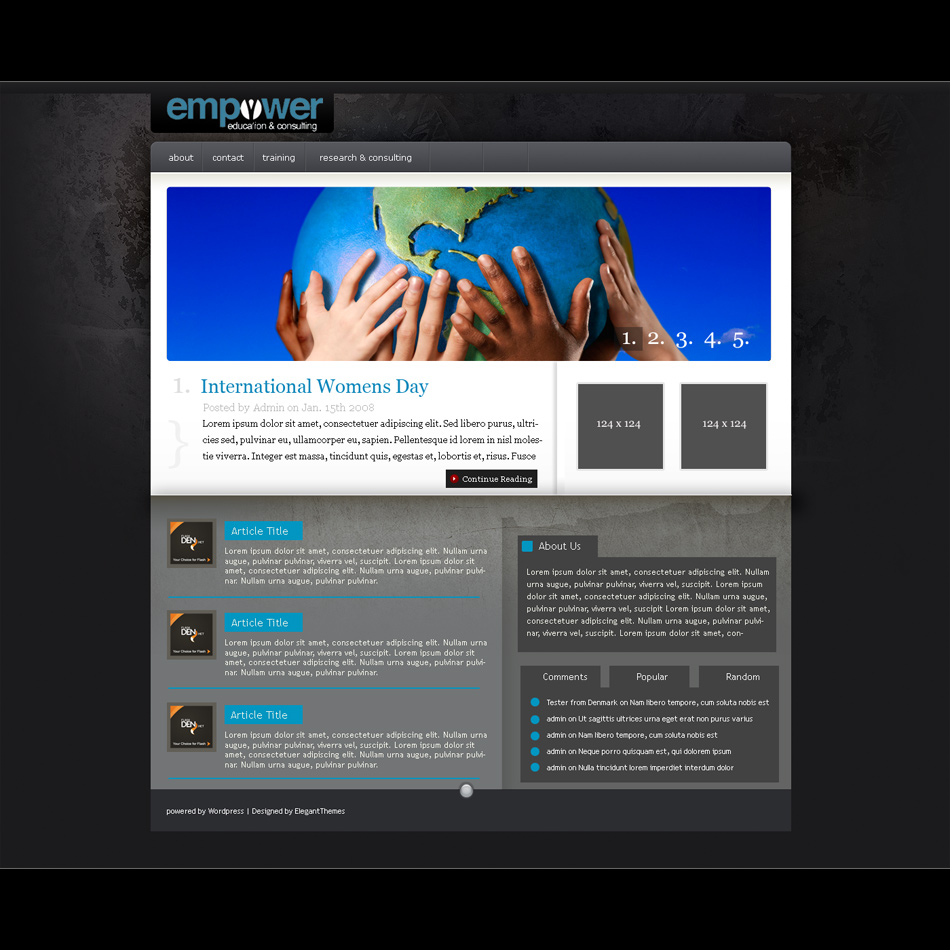 Web Page Design by keekee360 - Entry No. 3 in the Web Page Design Contest Empowered Design.