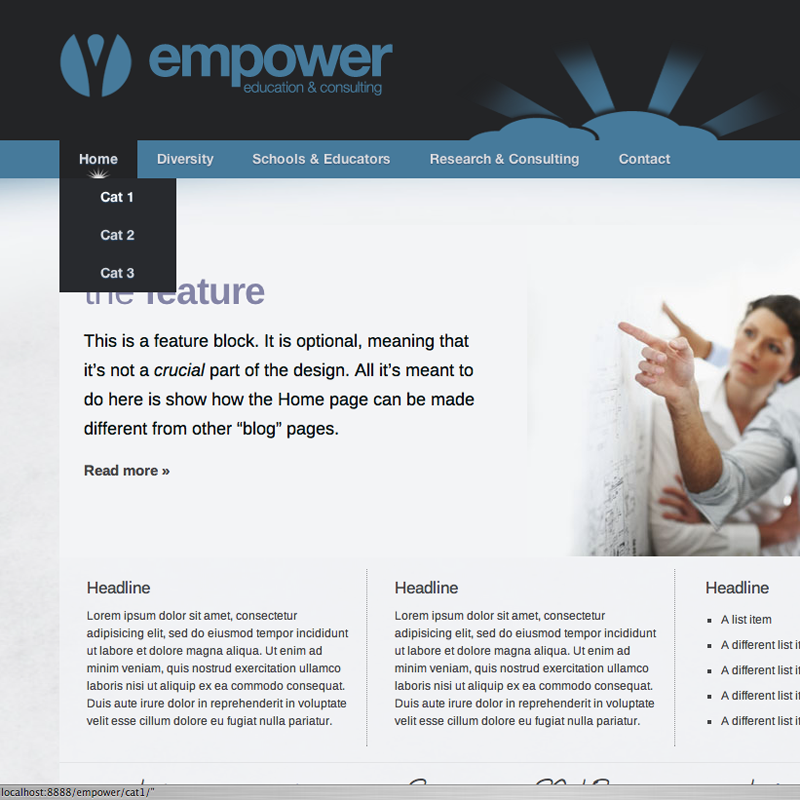 Web Page Design by frdk - Entry No. 10 in the Web Page Design Contest Empowered Design.