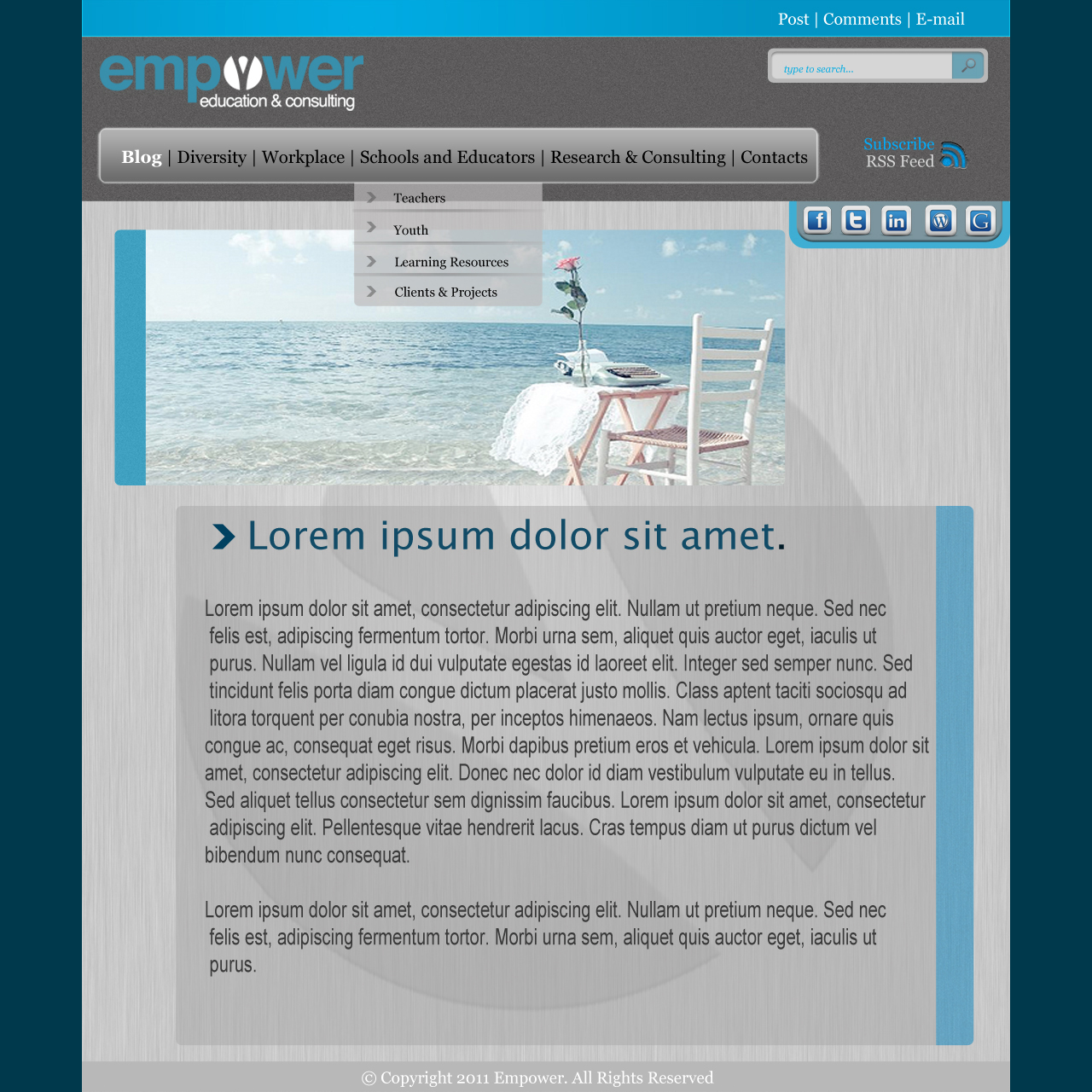 Web Page Design by akanksha_maurya - Entry No. 15 in the Web Page Design Contest Empowered Design.