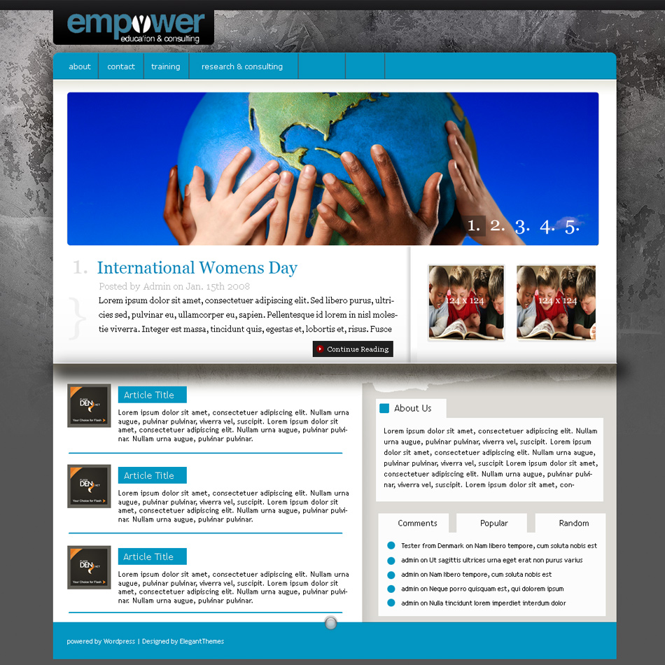 Web Page Design by keekee360 - Entry No. 26 in the Web Page Design Contest Empowered Design.