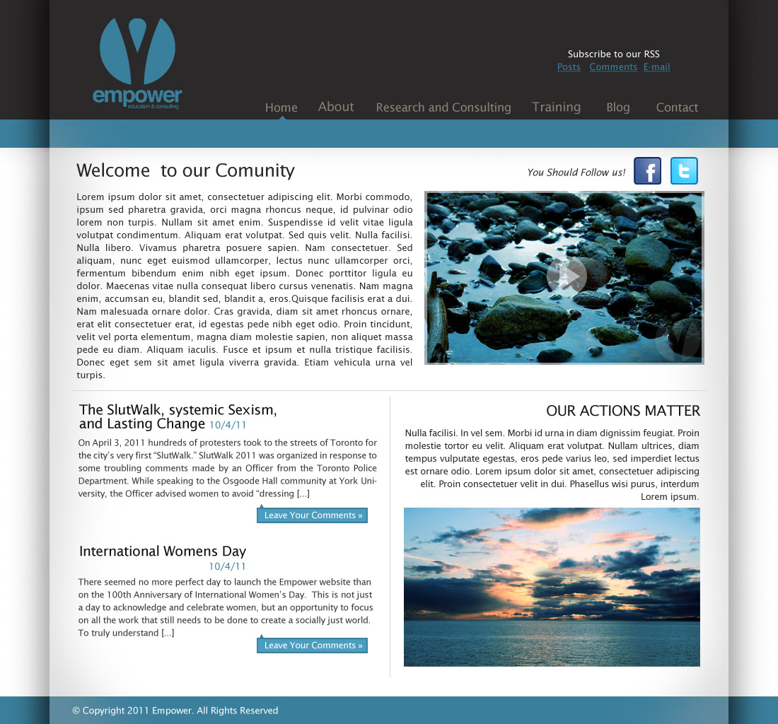 Web Page Design by Radhacelis - Entry No. 34 in the Web Page Design Contest Empowered Design.