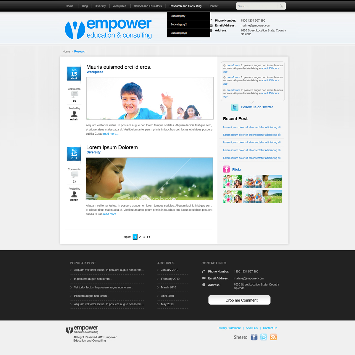 Web Page Design by rockpinoy - Entry No. 41 in the Web Page Design Contest Empowered Design.
