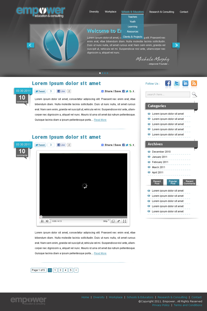 Web Page Design by suke - Entry No. 48 in the Web Page Design Contest Empowered Design.