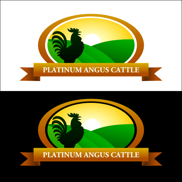 Logo Design by airez - Entry No. 1 in the Logo Design Contest Platinum Angus Cattle.
