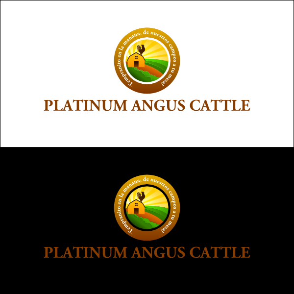 Logo Design by airez - Entry No. 2 in the Logo Design Contest Platinum Angus Cattle.