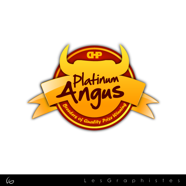 Logo Design by Les-Graphistes - Entry No. 3 in the Logo Design Contest Platinum Angus Cattle.