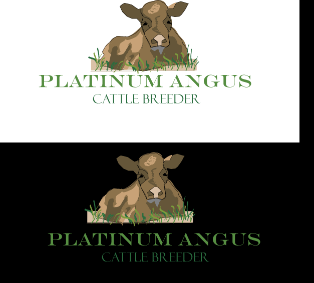 Logo Design by designabby - Entry No. 5 in the Logo Design Contest Platinum Angus Cattle.