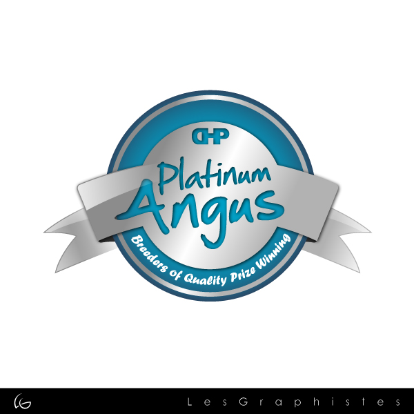Logo Design by Les-Graphistes - Entry No. 7 in the Logo Design Contest Platinum Angus Cattle.