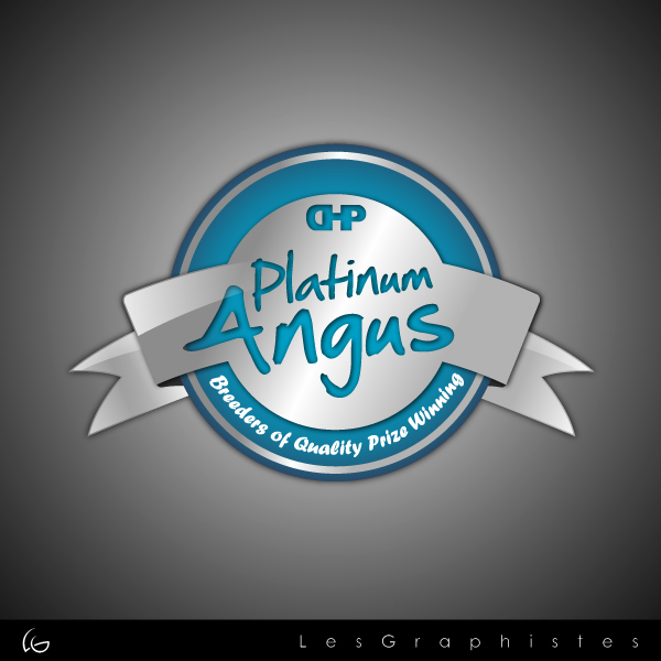 Logo Design by Les-Graphistes - Entry No. 8 in the Logo Design Contest Platinum Angus Cattle.