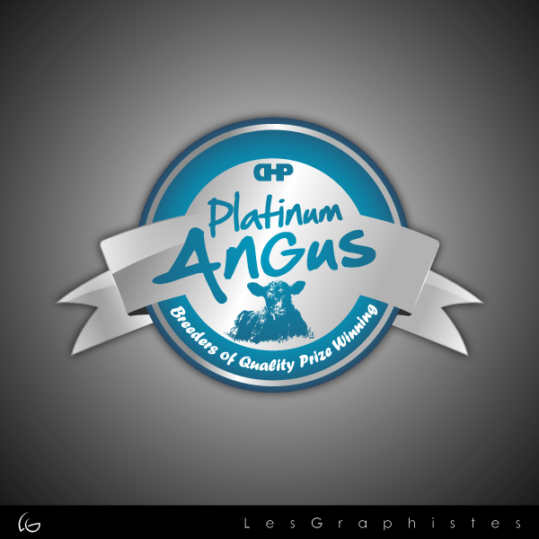 Logo Design by Les-Graphistes - Entry No. 11 in the Logo Design Contest Platinum Angus Cattle.