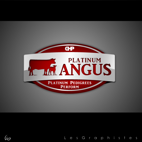 Logo Design by Les-Graphistes - Entry No. 27 in the Logo Design Contest Platinum Angus Cattle.