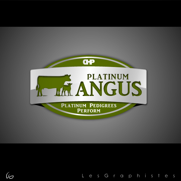 Logo Design by Les-Graphistes - Entry No. 28 in the Logo Design Contest Platinum Angus Cattle.