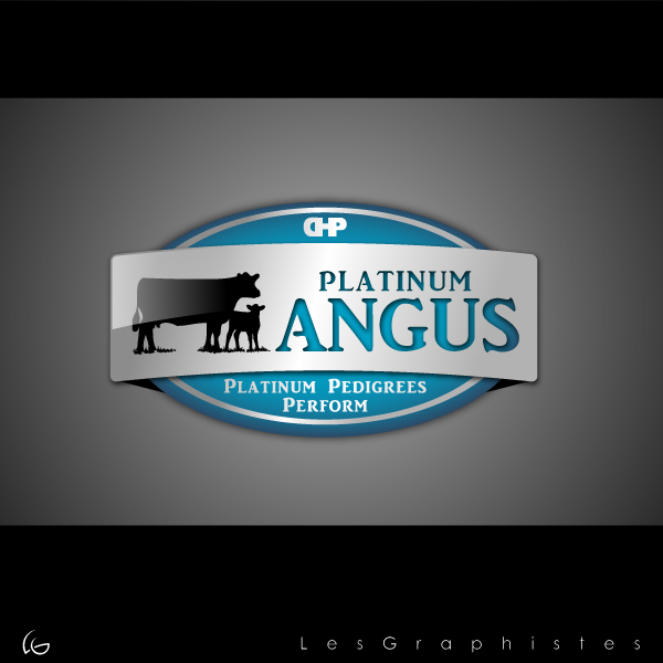 Logo Design by Les-Graphistes - Entry No. 39 in the Logo Design Contest Platinum Angus Cattle.