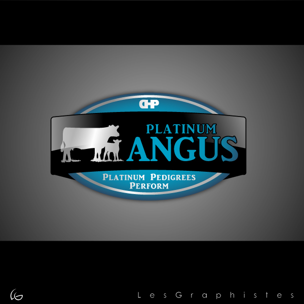 Logo Design by Les-Graphistes - Entry No. 40 in the Logo Design Contest Platinum Angus Cattle.