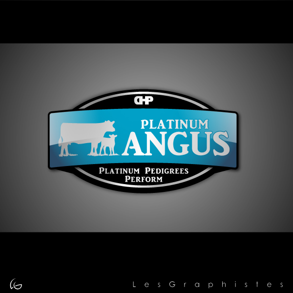 Logo Design by Les-Graphistes - Entry No. 41 in the Logo Design Contest Platinum Angus Cattle.