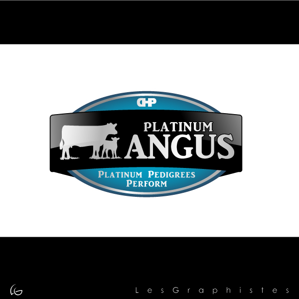 Logo Design by Les-Graphistes - Entry No. 44 in the Logo Design Contest Platinum Angus Cattle.