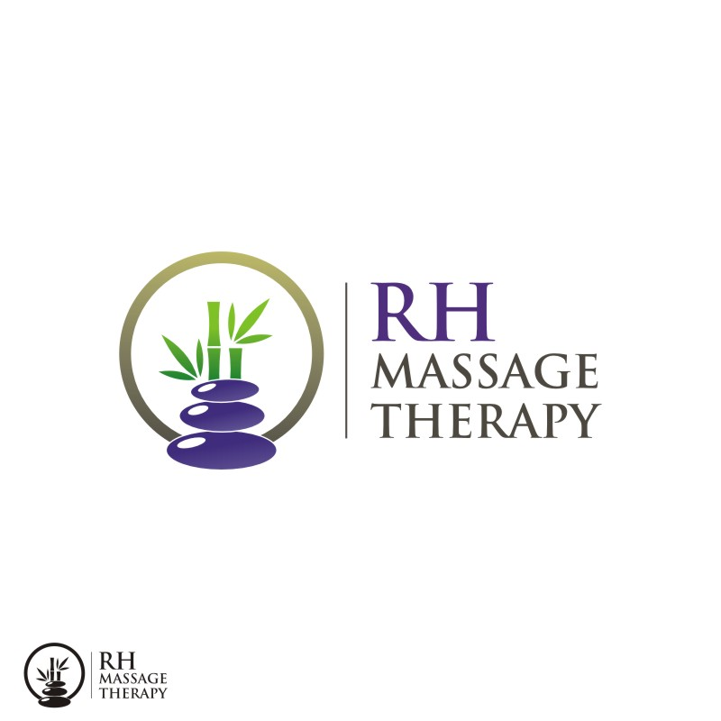 Logo Design by Private User - Entry No. 19 in the Logo Design Contest Logo for new massage therapy clinic named RH Massage Therapy.