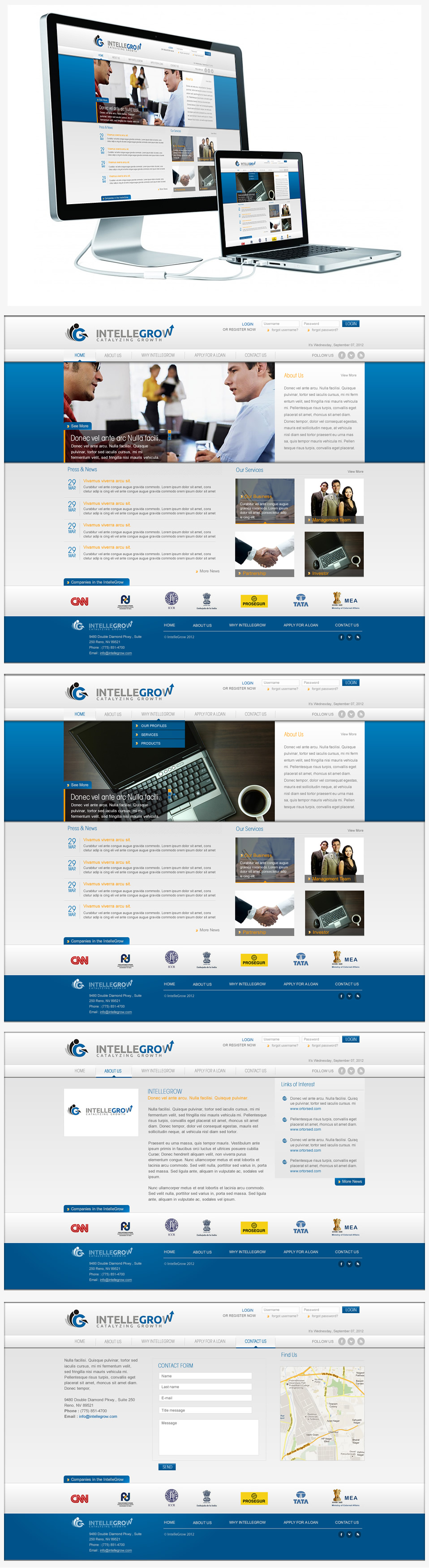 Web Page Design by Juma Studio - Entry No. 24 in the Web Page Design Contest IntelleGrow Finance Web Page Design.