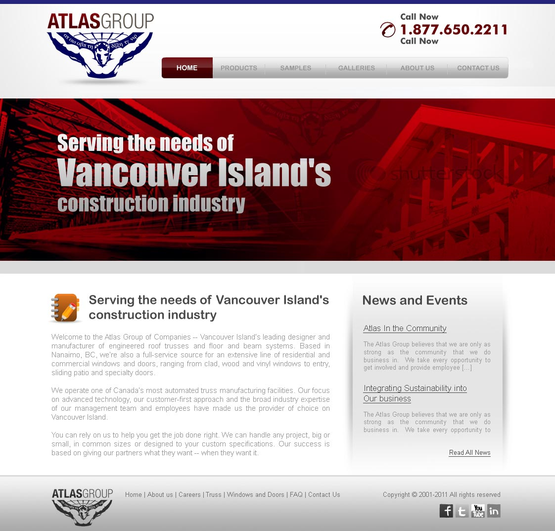 Web Page Design by ArsalanHanif - Entry No. 2 in the Web Page Design Contest The Atlas Group Website.