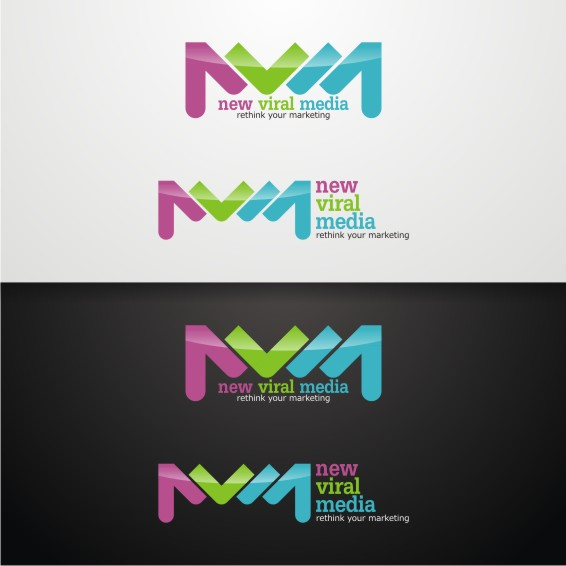 Logo Design by ben35dan - Entry No. 41 in the Logo Design Contest New Viral Media Logo.