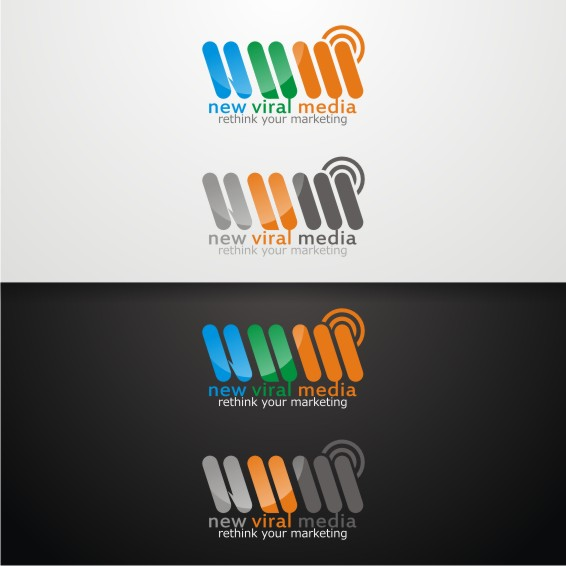 Logo Design by ben35dan - Entry No. 42 in the Logo Design Contest New Viral Media Logo.