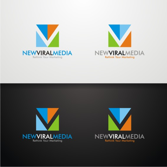 Logo Design by ben35dan - Entry No. 45 in the Logo Design Contest New Viral Media Logo.