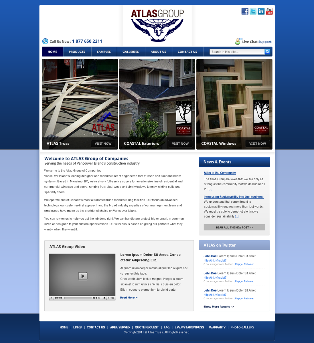 Web Page Design by Andrean Susanto - Entry No. 4 in the Web Page Design Contest The Atlas Group Website.