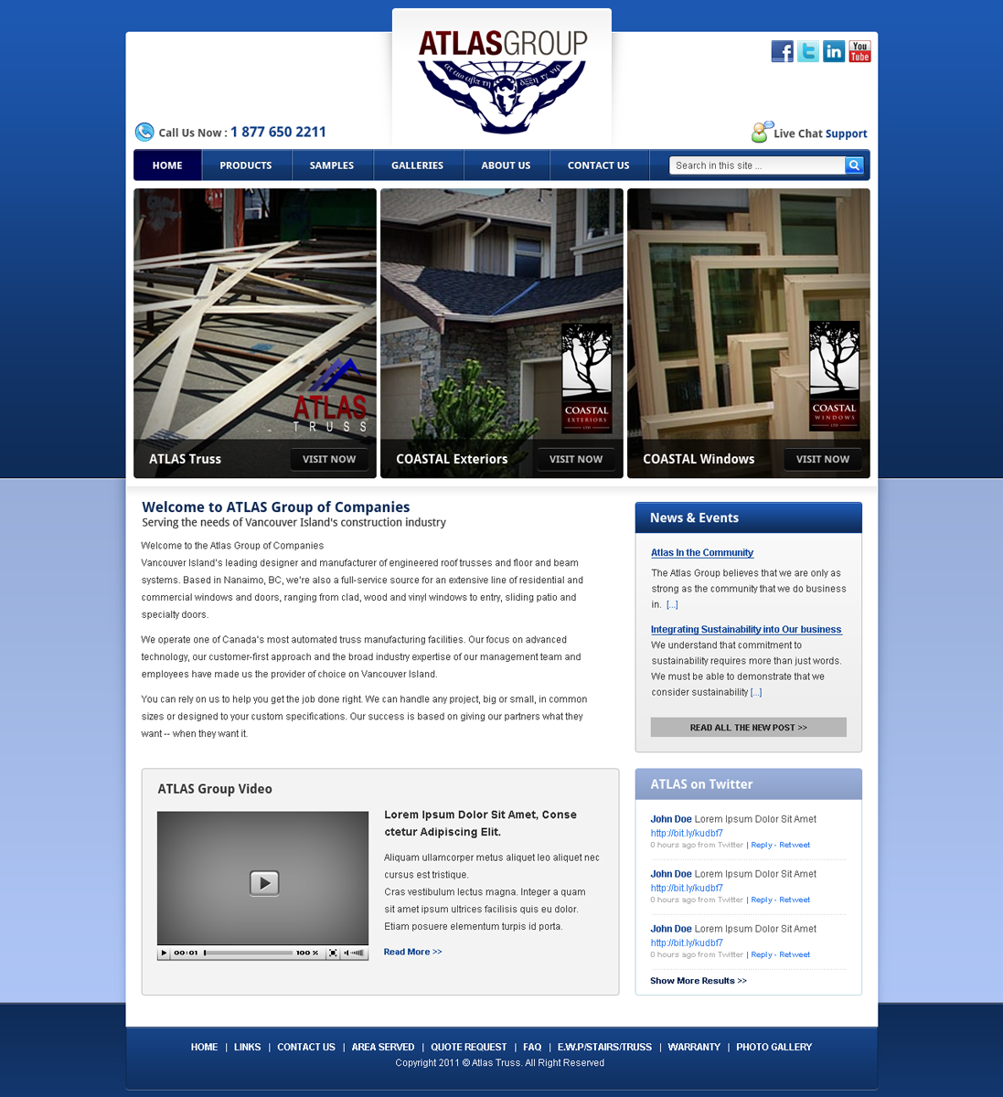 Web Page Design by Andrean Susanto - Entry No. 5 in the Web Page Design Contest The Atlas Group Website.
