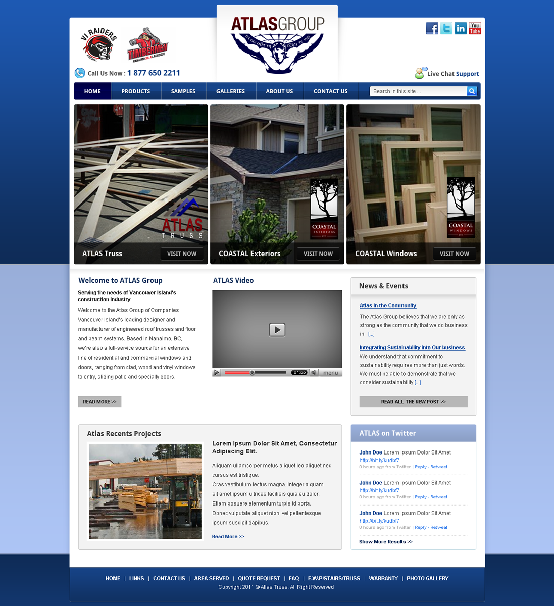 Web Page Design by Andrean Susanto - Entry No. 6 in the Web Page Design Contest The Atlas Group Website.