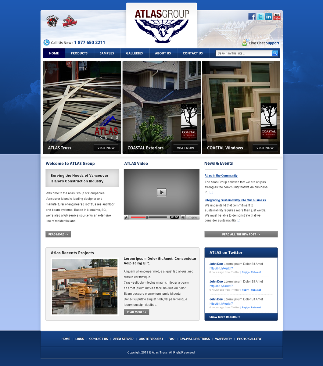 Web Page Design by Andrean Susanto - Entry No. 9 in the Web Page Design Contest The Atlas Group Website.